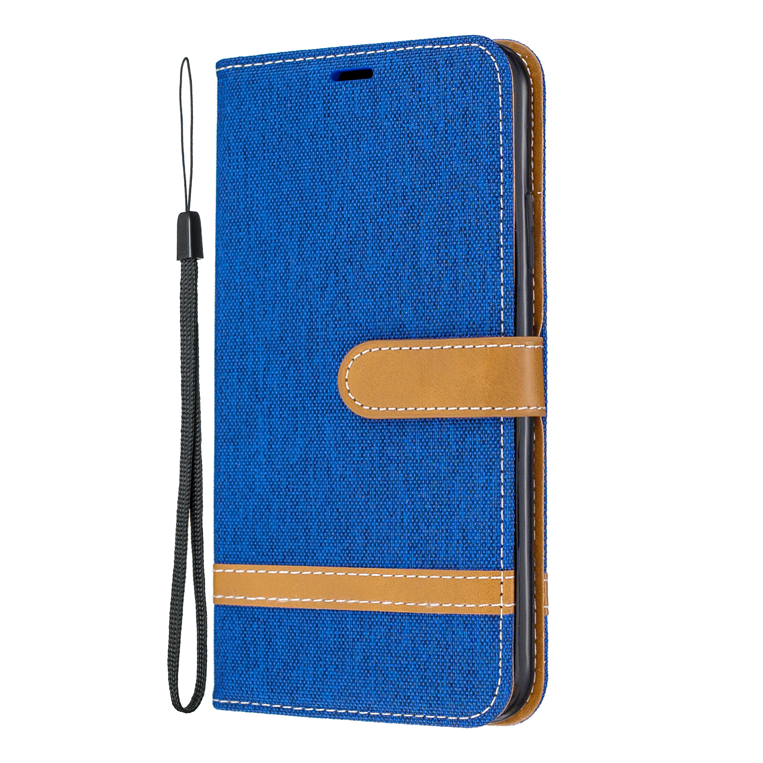 For iPhone 11 Luxury PU Leather Painted Cover For iPhone X XS MAX XR Denim Jeans Canvas Flip Case Wallet Stand With Card Holder in Flip Cases from Cellphones Telecommunications