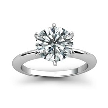 цена Pure 18K White Gold Ring 1ct 2ct 3ct Classic Trendy Moissanite Diamond jewelry Ring Wedding Party Anniversary Ring For Women