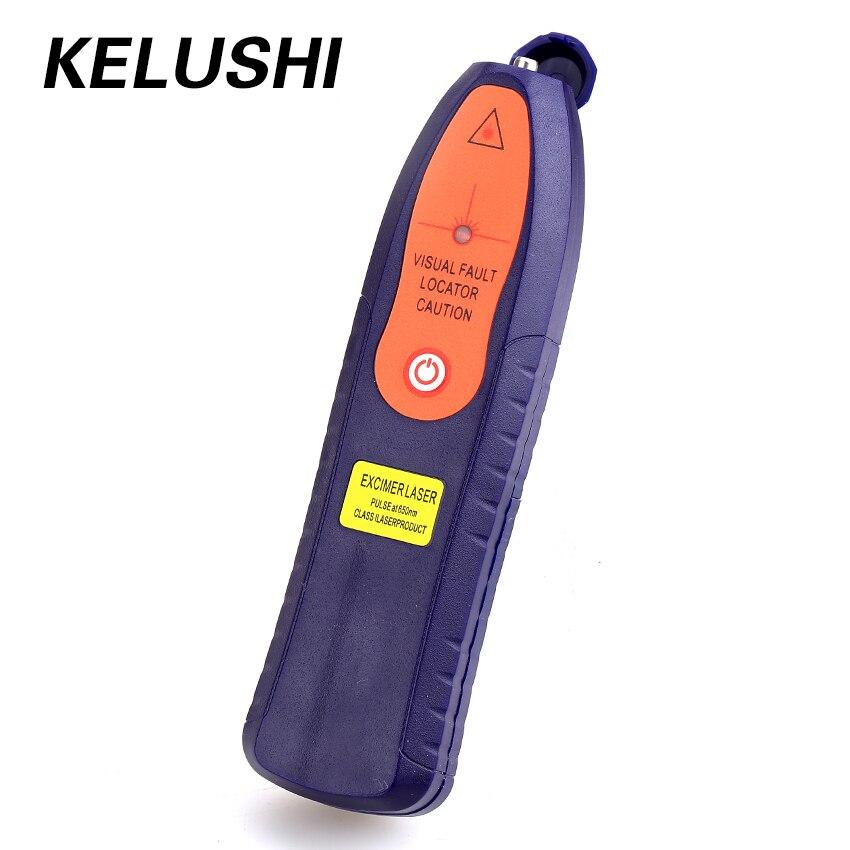 KELUSHI New 1-5km 1mw Fiber Optical Visual Fault Locator SC/FC/ST/LC Fiber Optic Cable Tester Checker Red Laser Pen