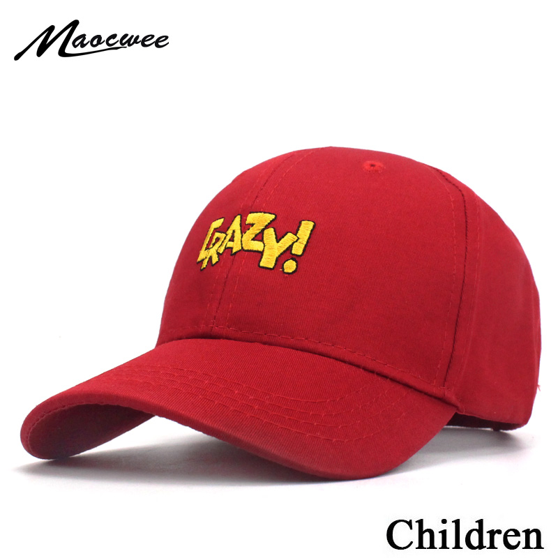 da7c0c4ba63 Detail Feedback Questions about Boy Girl Letter CRAZY Baseball Cap Children  baby solid color Snapback Summer travel shade sun hat Bones 2018 New 3 8  years ...