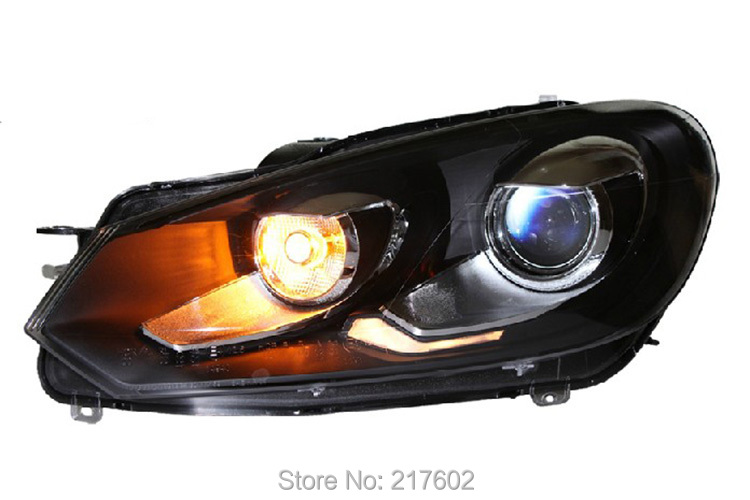 Car lights Assembly for Volkswagen VW Golf 6 Headlights 2010-2012 V2 LF car rear trunk security shield cargo cover for volkswagen vw tiguan 2016 2017 2018 high qualit black beige auto accessories
