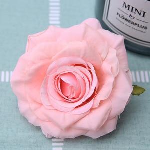 Image 3 - 50 teile/los Günstige Silk Rose Heads Real Touch Künstliche Blume für Braut Bouquet Rrist Zubehör Hochzeit Marriag Auto Decor