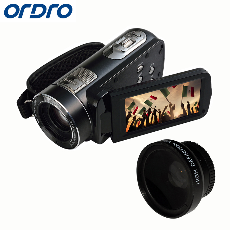 ORDRO HDV Z80 Digital Video Camera 24MP 1080P 10X Digital Zoom Cmos Anti shake 120X Digital Zoom 5.1MP CMOS Sensor