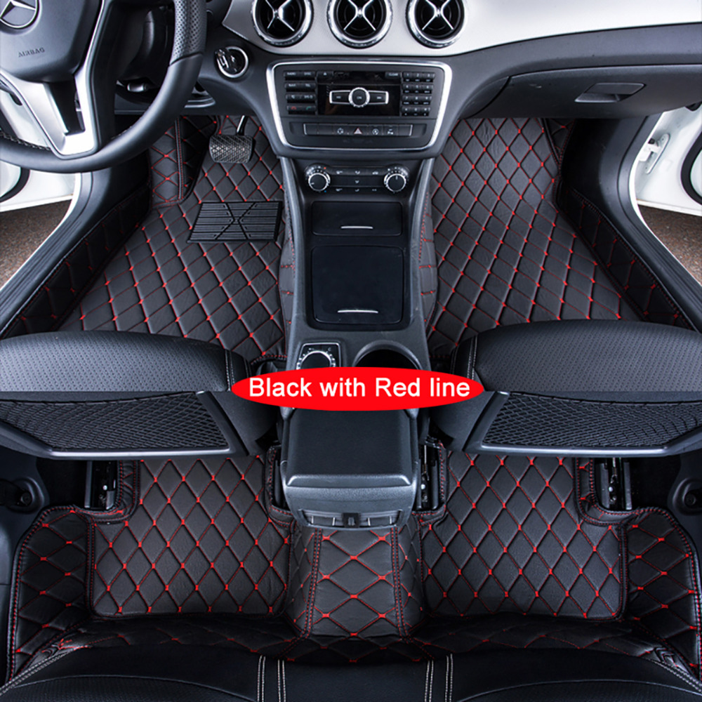 Car <font><b>Floor</b></font> Mats Case for <font><b>Ford</b></font> <font><b>Escape</b></font> Kuga Maverick 2015~ Customized Auto 3D Carpets Custom-fit Foot Liner Mat Car Rugs Black