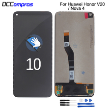 Original For Huawei Honor V20 View 20 LCD Display Touch Screen Digitizer Assembly For Huawei Nova 4 LCD Replacement Parts high quality for huawei honor 5x 2gb ram lcd lcd display touch screen digitizer assembly smartphone replacement parts