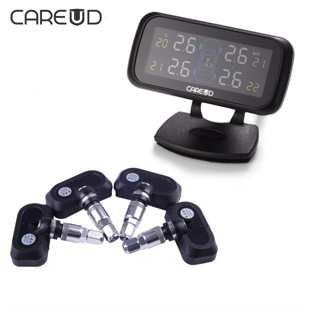 Careud U903 Auto Car Wireless TPMS Tire Pressure Monitoring System Auto Tire Pressure Alarm cigarette lighter TPMS monitor tpms tire pressure monitoring system diagnostic tool tire pressure alarm cigarette lighter temperature diy psi bar careud 903