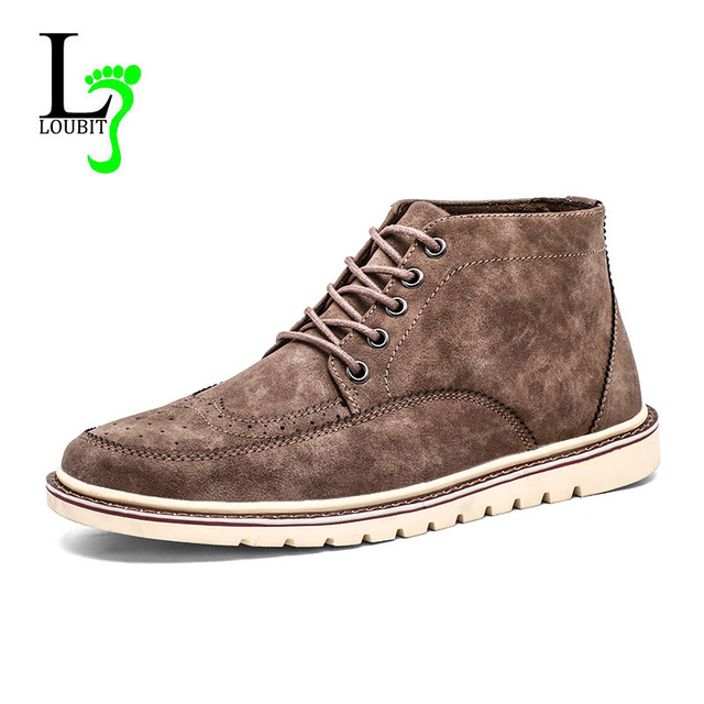 c08fe2518d Fashion Men Boots Winter With Fur Casual Shoes Men Flats Autumn Male Ankle  Boots Mens 2018