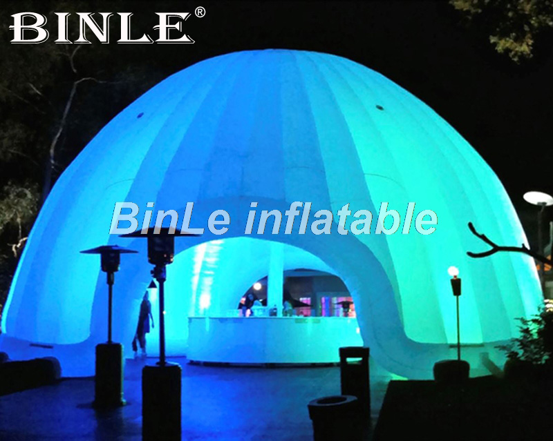 цены на Customized white air inflatable dome tent with led lighting circus tent giant wedding marquee igloo party tent for events в интернет-магазинах