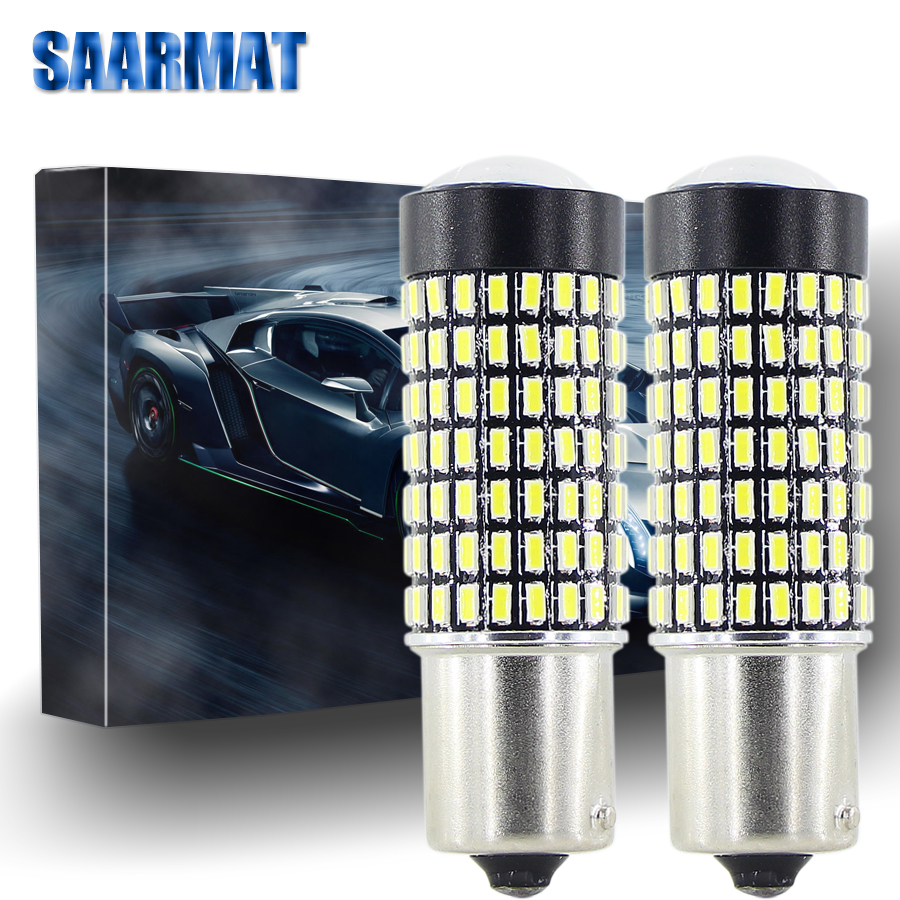 Pair 1156 LED car ba15s p21w reverse font b lamp b font 1157 BAY15d Brake lights