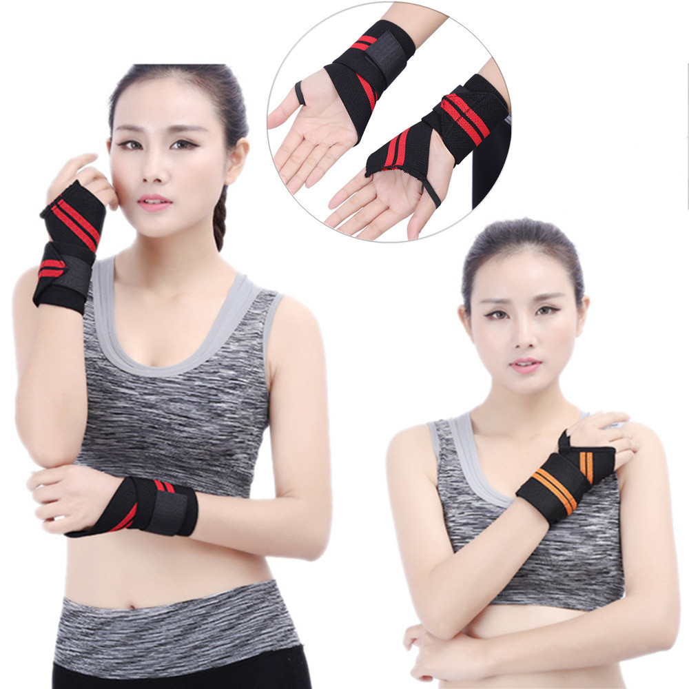 Jessicas Store Wrist Wrap 18inch Professional Grade With Thumb Loops Wrist Support Braces