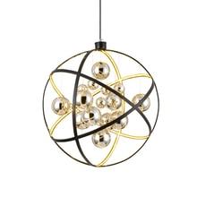 JAXLONG Nordic Glass Ball Pendant Lamp Living Room Bedroom lustre Home Decor Lighting Light Fixture Novelty retro Shop Hanglamp
