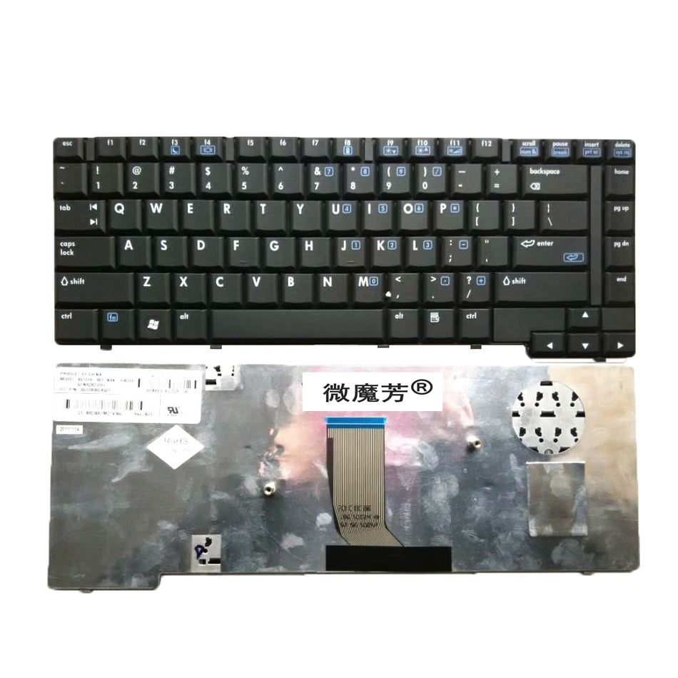 US Black New English Replace Laptop Keyboard FOR HP 8510 8510P 8510W