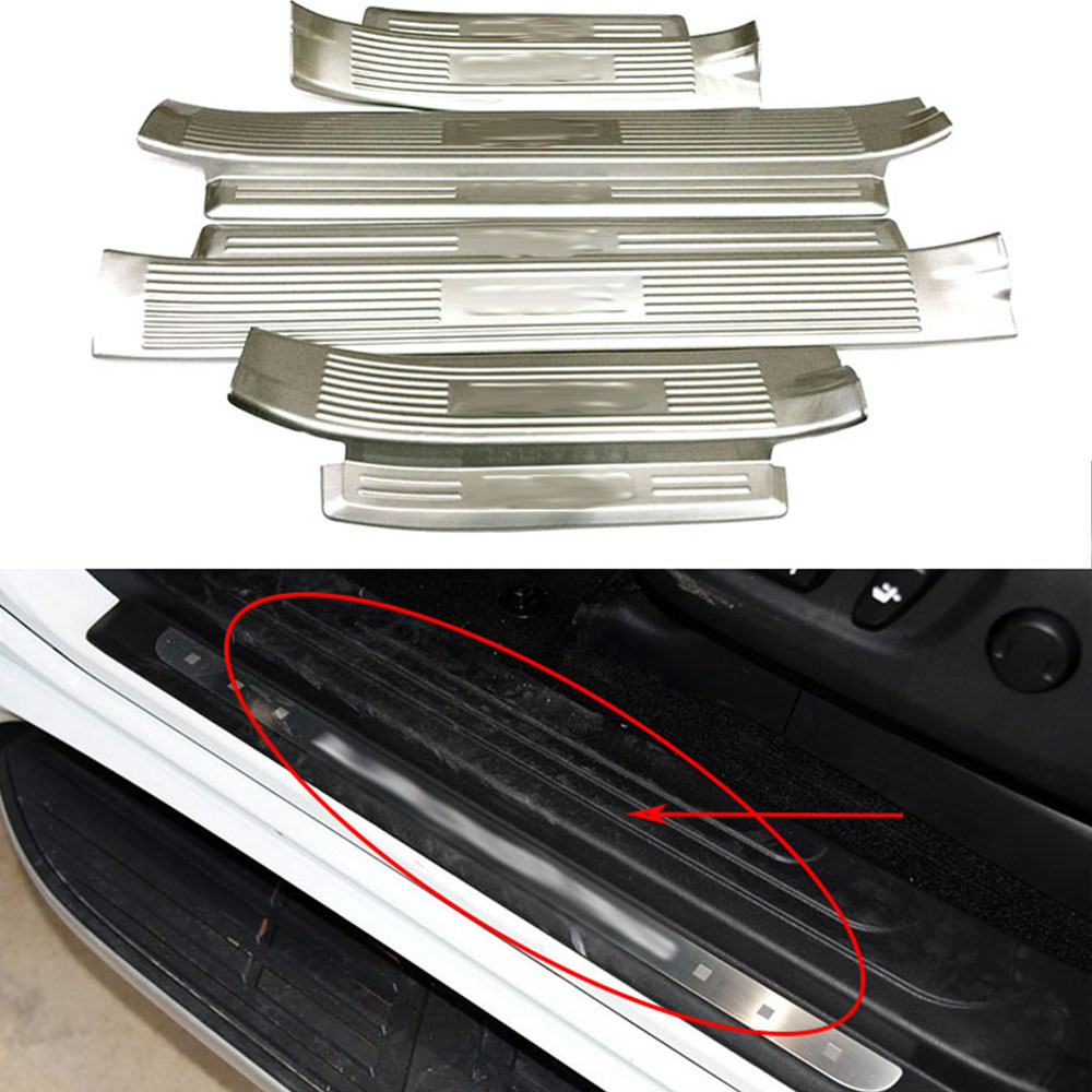 Nulla Outside Inside Door Sill Cover Trim Frame Decorative For Toyota Prado FJ150 2010 2011 2012 2013 2014 Car Sticker Accessory for toyota prado fj150 2014 2016 auto cover accessories interior door handle door armrest air outlet lamp frame covers 17pcs set