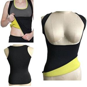 Image 3 - Conjunto de roupa modeladora do corpo, calças termo neoprene para mulheres calças de emagrecimento molde + colete sem mangas espartilho de controle de esticar