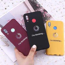 For Samsung S8 S9 S10 S10e Plus Note 8 9 10 A7 A8 I am thinking Funny Memes Candy Silicone Phone Case Cover Capa Fundas Coque