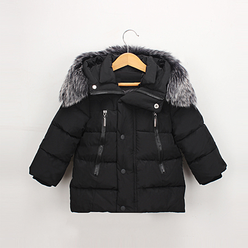 #LHA029 Girls Boys Down Coat with Fur Hooded