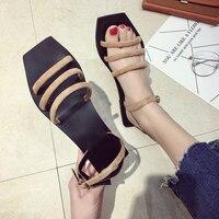 HIZCINTH 2018 Summer Women S Sandals Female Flats Sandals Student Peep Toe Sandalia Gladiador Vintage Beach