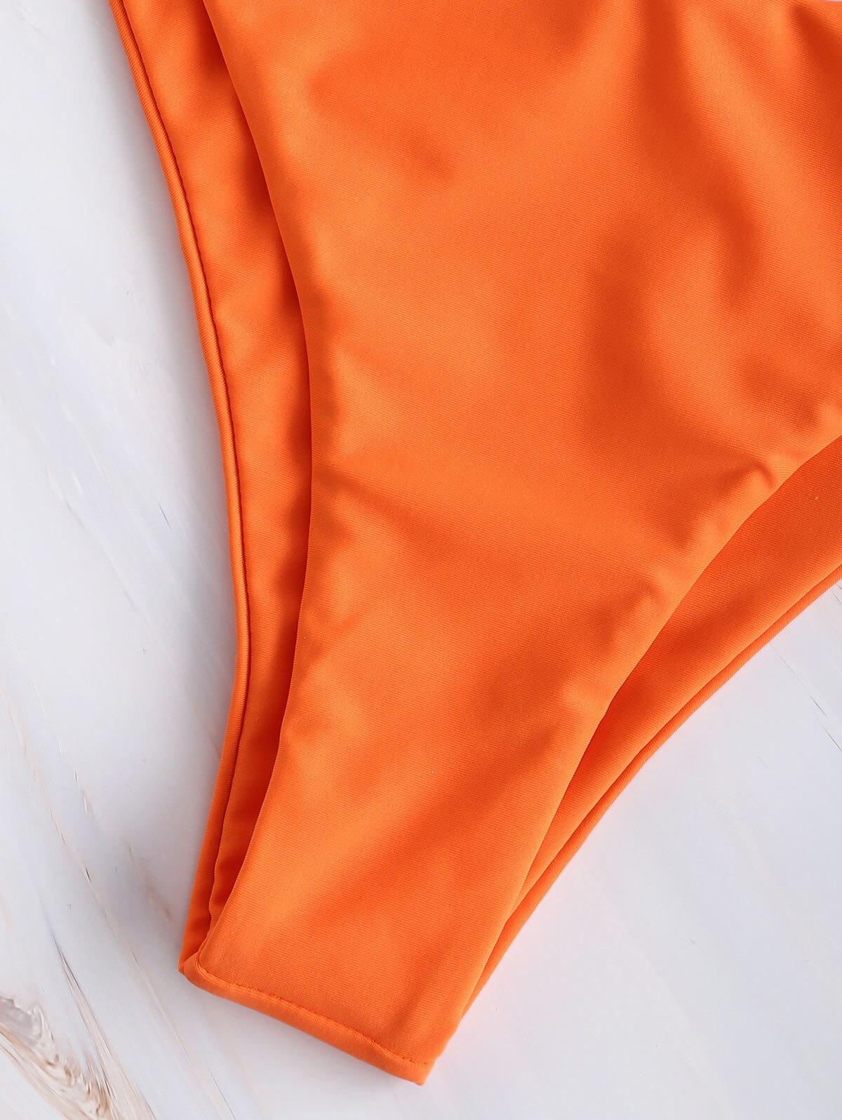 Frilled Smocked Bandeau Bikini 8