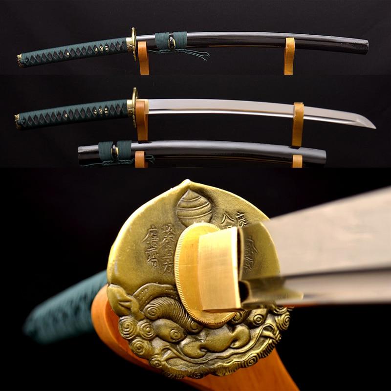 1095 Carbon Steel KO KATANA HANDMADE Samurai Japanese Sword Full Tang Sharp Blade Battle Ready Practice
