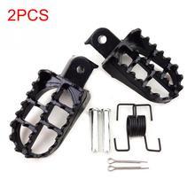Новые 2 шт. подножки для ног мотоциклетные ирония широкий Мотокросс черные алюминиевые колодки