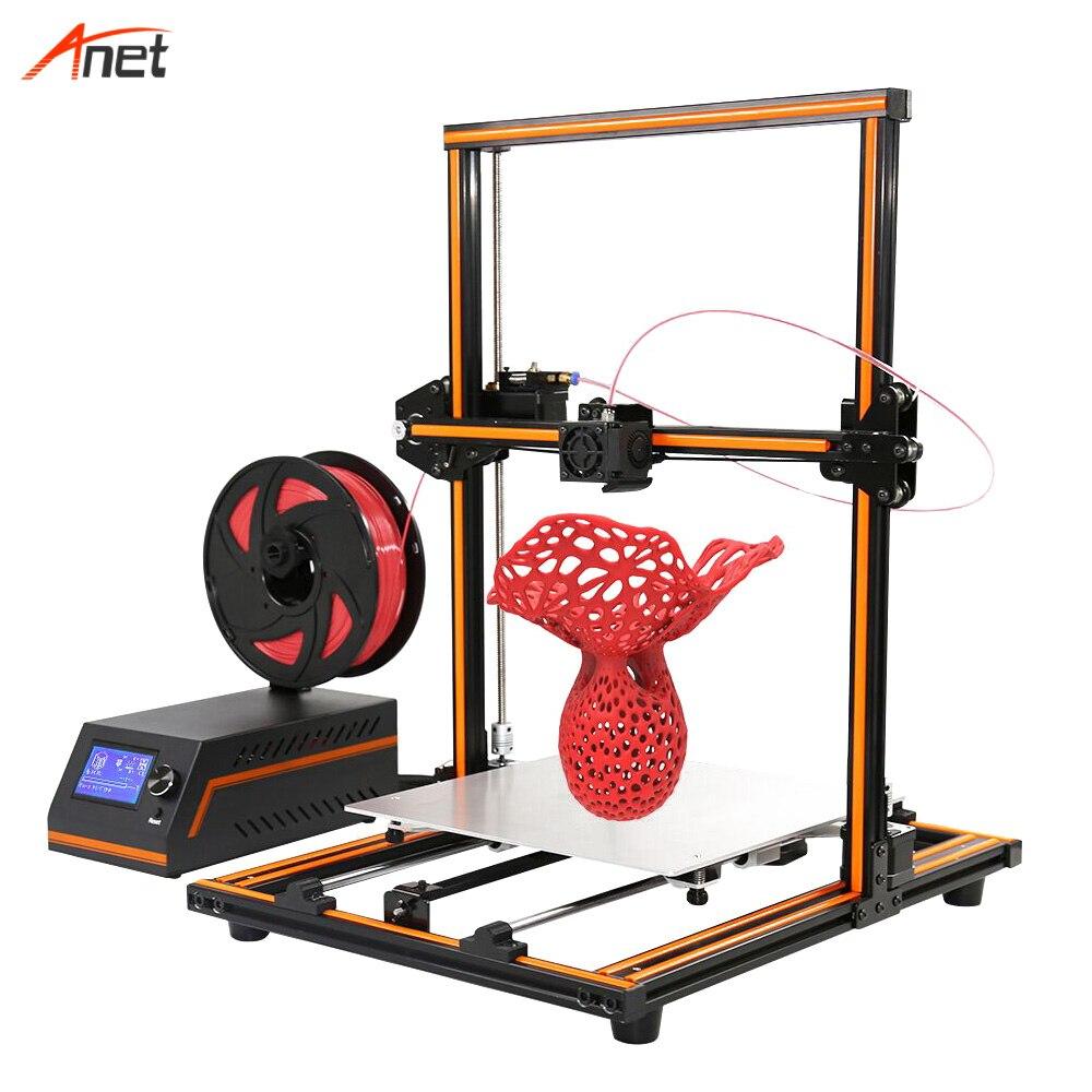Anet E12 nouvelle imprimante 3d mise à niveau cadre en métal impression de bureau 3D haute précision d'impression Semi assemblé imprimante Prusa I3 3d