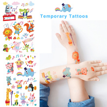 Cartoon Animals Tattoo For Kids Colourful Cute Waterproof Ta