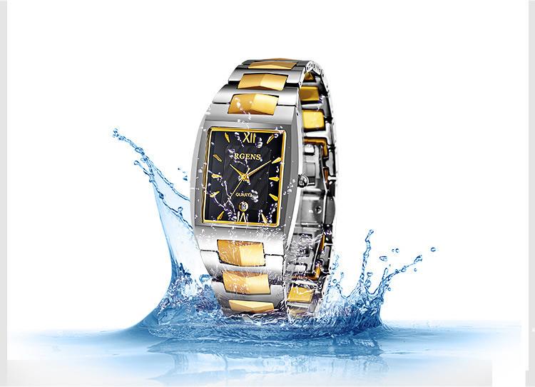 b5455cea0bc Multifuncionais homens relógios de ouro de luxo Grande mostrador azul  TEMEITE marca mens relógio de quartzo homem de aço inoxidável relógio de  pulso à prova ...
