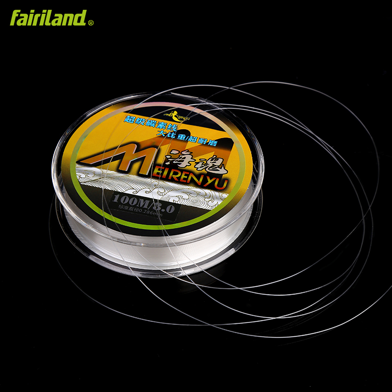 Fairiland 9 size 100m japanese 75/% Carbon fishing line Main line Tippet leader