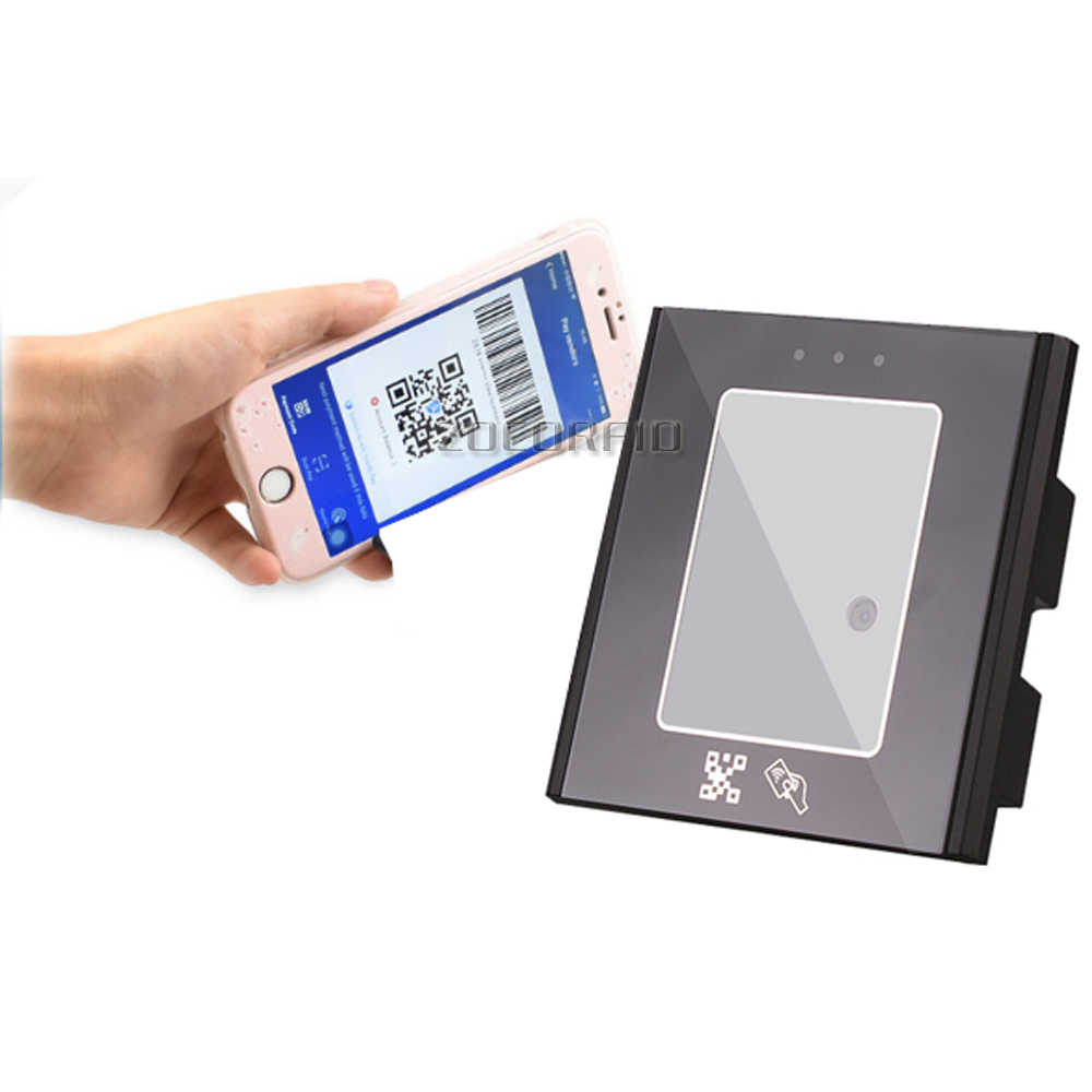 2D/QR/1D Fixed Mount Scanner Wiegand26 RJ45 USB Vending Access Control Turnstile Scanner Module Engine