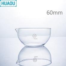 HUAOU 60 мм испаряющая тарелка плоское дно с носиком боросиликатное 3,3 стекло лабораторное химическое оборудование