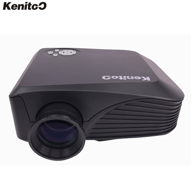 Kenitoo Factory Direct-Sale Mini Projector LED Home Theater DJ Equipment HD Projector Support 1920*1080 Portable Drop Shipping