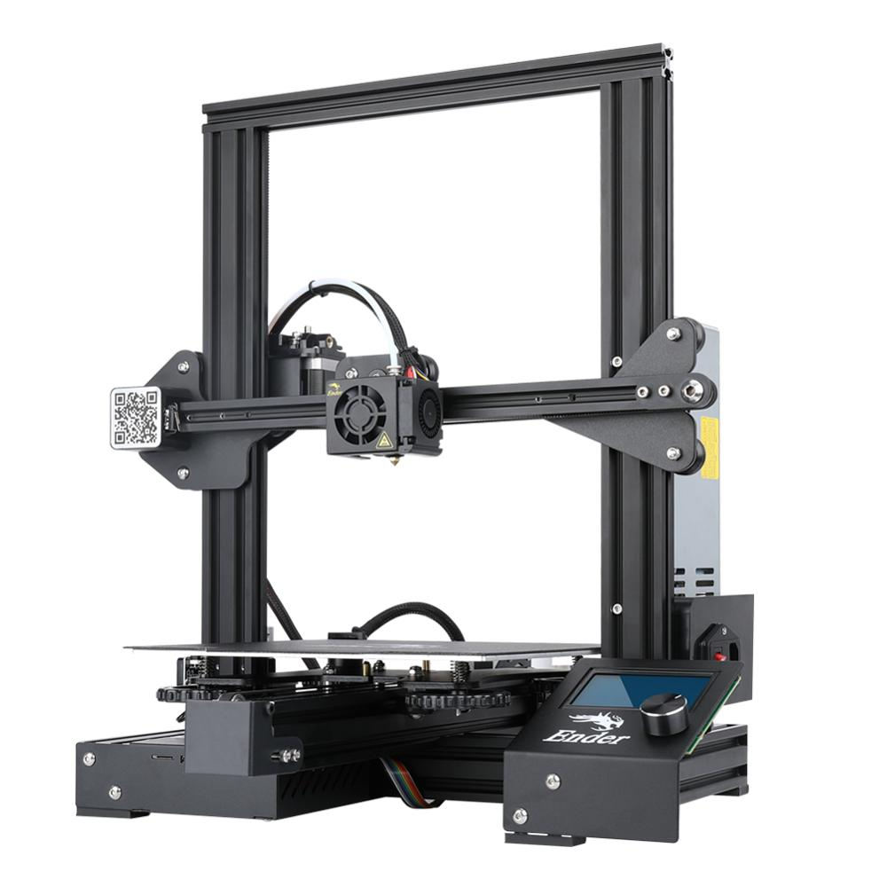 Image 2 - CREALITY Ender 3 Pro Vision ADD Glass Build Plate 3D Printer V slot Brand Power Supply Printer With Power off Resume Print-in 3D Printers from Computer & Office