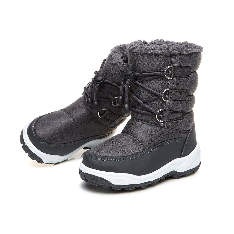 Little Girls Boys Infant Boot Snow Fur Soft Warm Boots Winter Solid Round Infantil Mid-calf Kids Booties Waterproof KT903-34 B