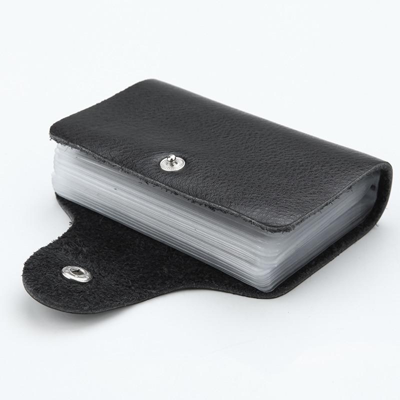 Fashion PU Leather Function 24 Bits Card Case Business Card Holder Men Women Credit Passport Card Bag ID Passport Card Wallets 2