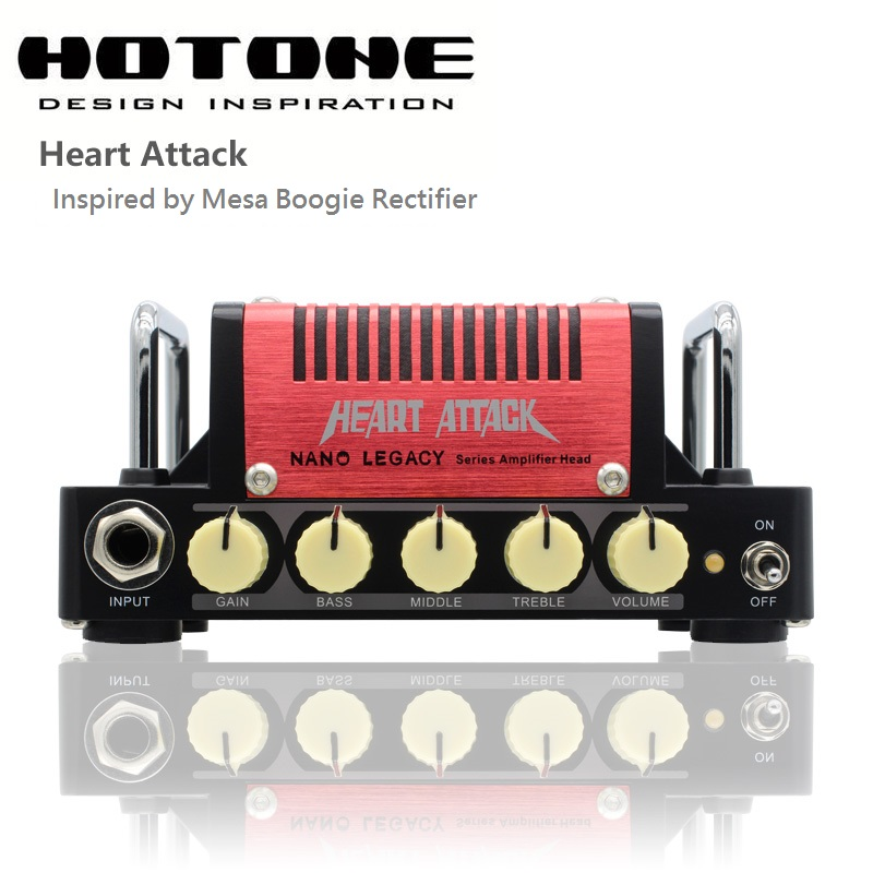 Hotone Nano Legacy Heart Attack 5 Watt Metal Sound Mini Guitar Amplifier Head Inspired by Mesa Boogie Rectifier цена