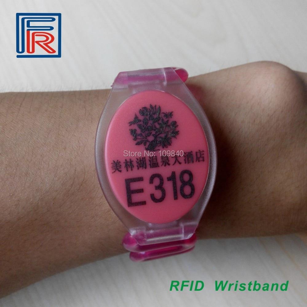 ID Wristband Custom LOGO Or Number Stylish, Hotel Resort Sauna EM Wristband Bracelet Tag Options Color 500pcs
