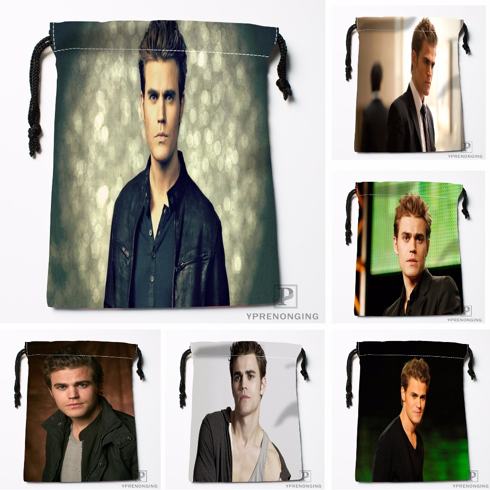 Custom Paul Wesley Drawstring Bags Travel Storage Mini Pouch Swim Hiking Toy Bag Size 18x22cm#0412-03-32