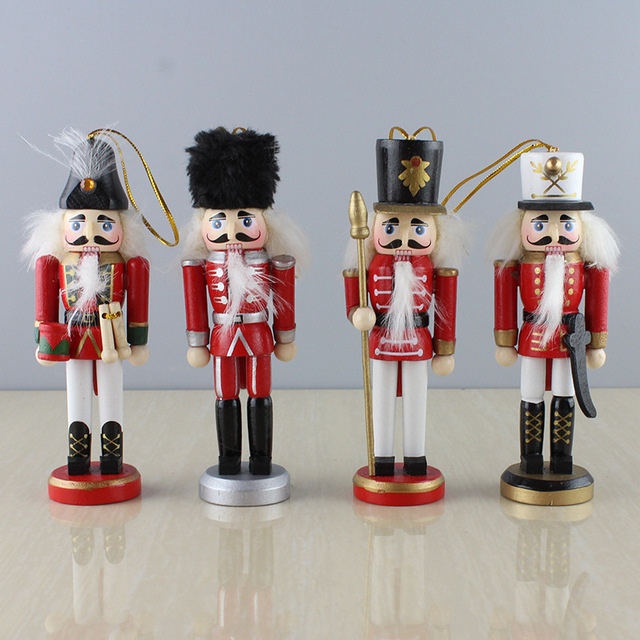 4pcsset home decoration miniature happiness christmas gif the nutcracker model soldier craft furnishing articles - Christmas Soldier