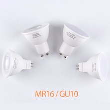 Plastic Aluminum GU10 Bombillas LED Lamp GU5.3 Bulb MR16 Spot Light 220V SMD 2835 5W 7W 6 12leds Energy Saving Lights