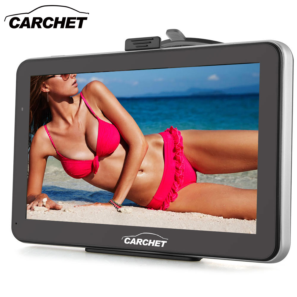 CARCHET Car GPS Navigation 7 Inch 128MB 8GB with West Europe Map FM Transmitter MP3 MP4 WinCE 6.0 Touch Screen GPS Navigation aw715 7 0 inch resistive screen mt3351 128mb 4gb car gps navigation fm ebook multimedia bluetooth av europe map