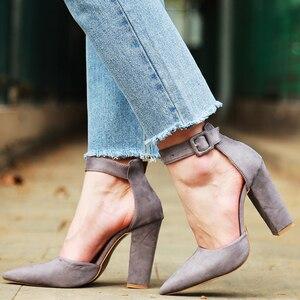 Image 5 - 2020 סקסי קלאסי גבוהה עקבים נשים של סנדלי קיץ נעלי גבירותיי רצועות משאבות פלטפורמת עקבים אישה קרסול רצועת נעליים