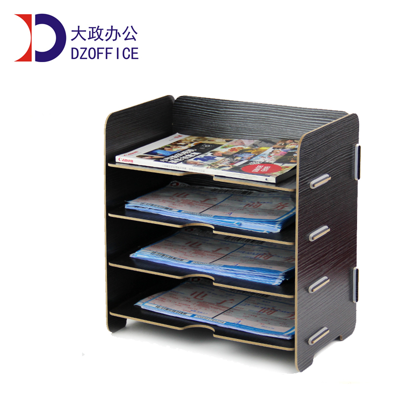 Free shipping wood office supplies desktop A5 filling box rack avengers disassembled page 6