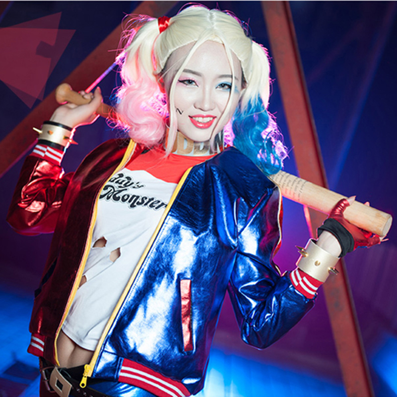 [Black Friday]Batman Suicide Squad Harley Quinn Fancy Outfit Halloween Cosplay Costume Sexy Suit COSPLAYONSEN Free Shipping