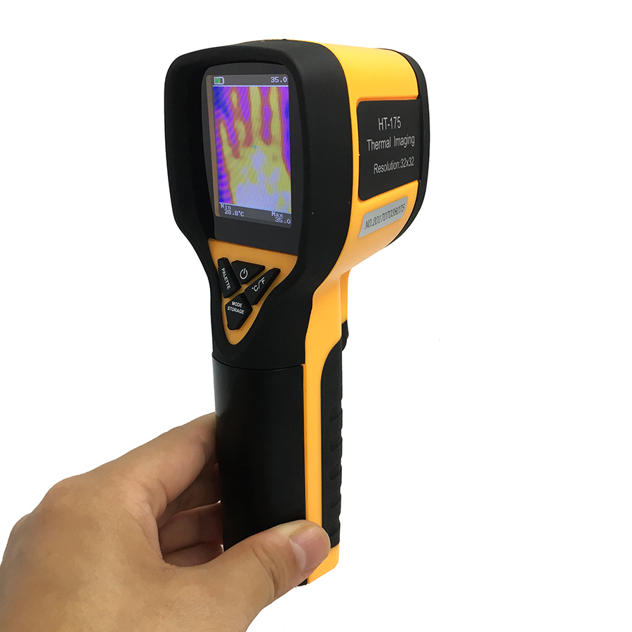 Rechargeable Battery Powered Infrared Thermal Imager with Color Display Screen 7