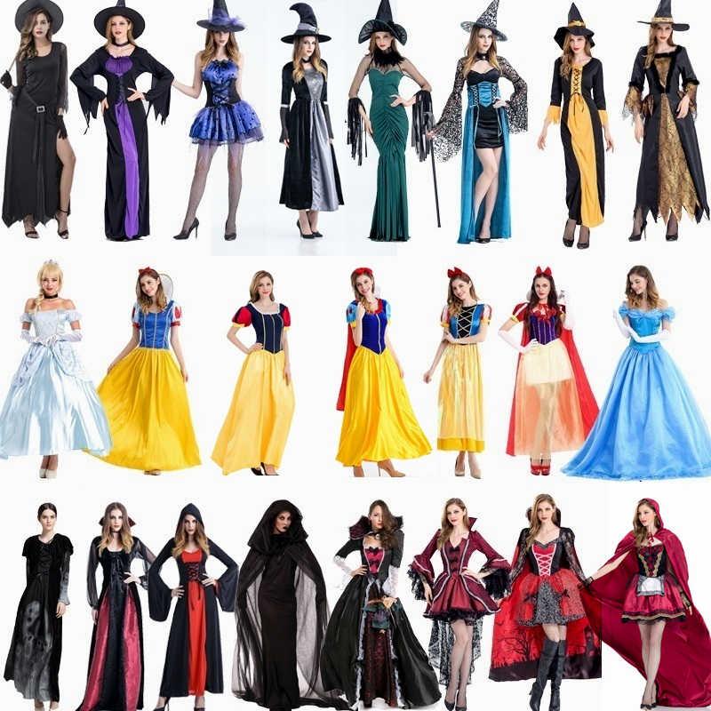 Disfraces de Halloween para mujeres Cosplay vampiro nieve blanca bruja reina disfraz Cosplay
