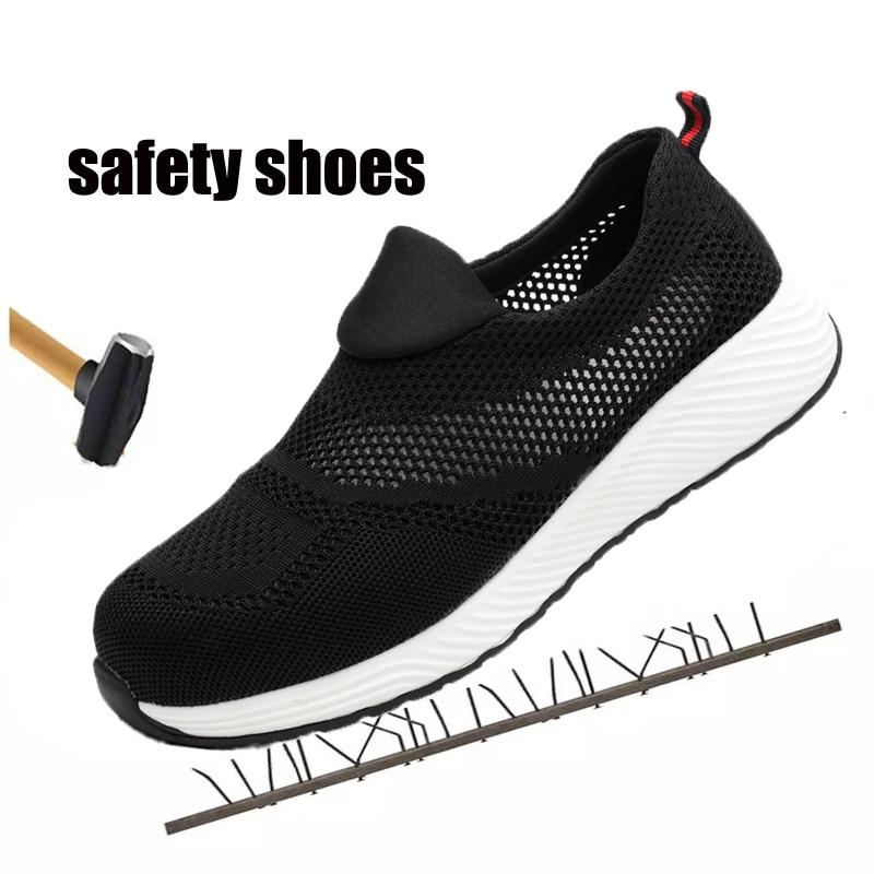 40a6c7f99 Cheap Zapatos de seguridad indestructible de verano para mujer, zapatos  ligeros para hombre, zapatos