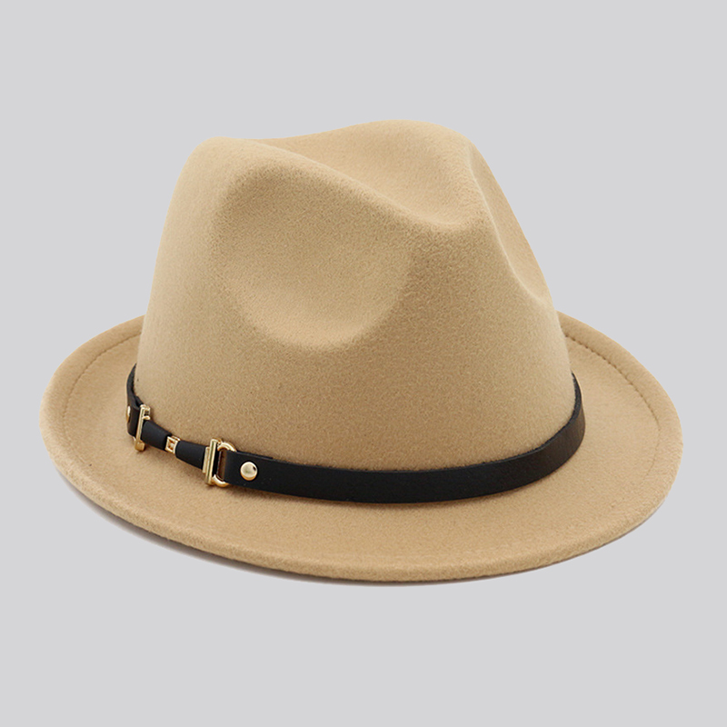 New Women s Fedora Hat Wool Floppy Felt Trilby Fedora Cap for Elegant Womem  Ladies Church Hat Panama Winter Cap for Girl WH405-in Fedoras from Apparel  ... 0a61bda97b75