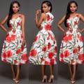 2016 Африканских Платье Платья Для Женщин 201 Осенняя Мода Женский Новый Печать V-образным Вырезом Восстановление Древних Путей Талии Одежды