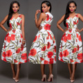 2017 African Dress Dresses For Women 201 Autumn Fashion Female New Printing V-neck Restoring Ancient Ways The Waist Clothes