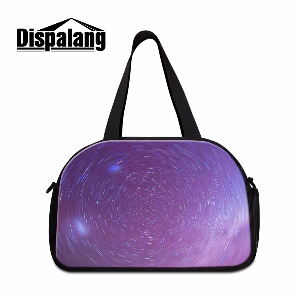Dispalang звёздное небо женские багаж мешок мальчиков Спортивная сумки с независимой обуви карман Мужчины командировка duffle bag
